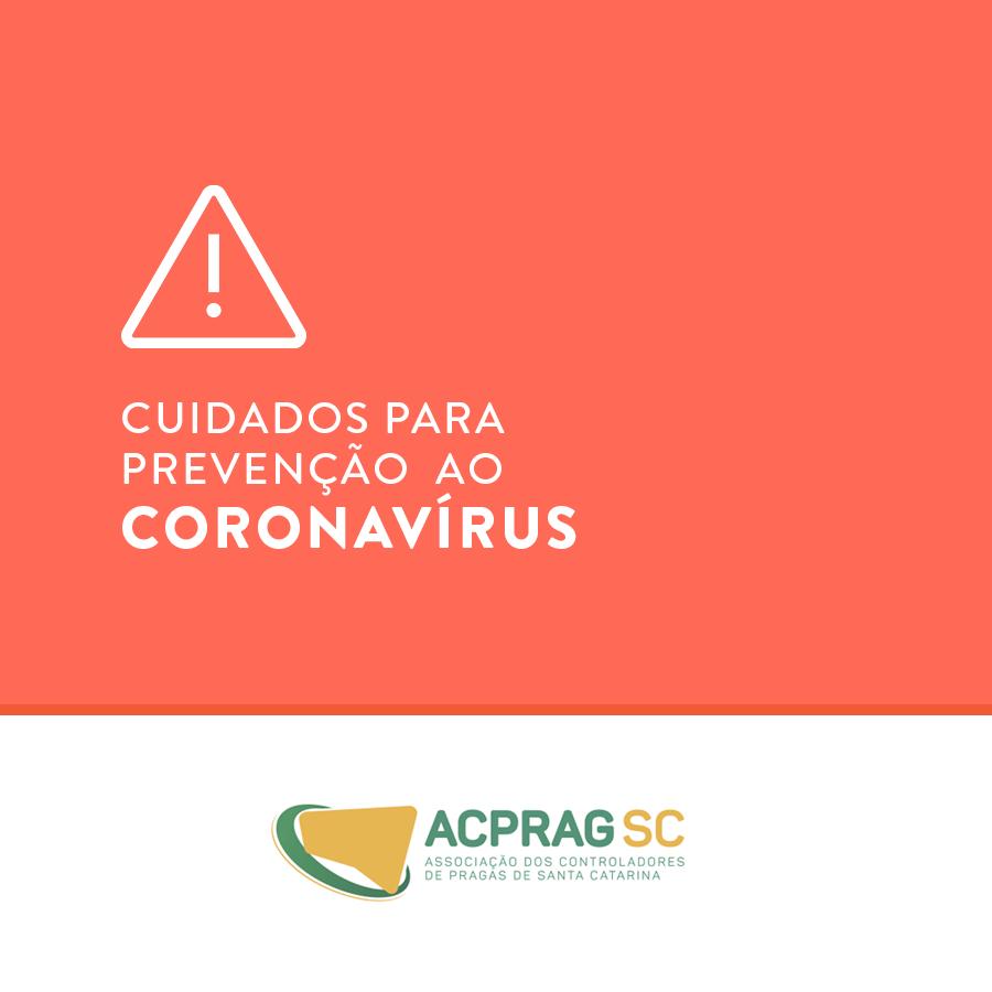 Cuidados para prevenção ao corona vírus
